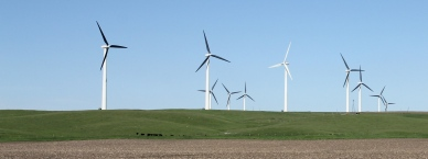 Windmills - old and new - on the Buffalo Ridge