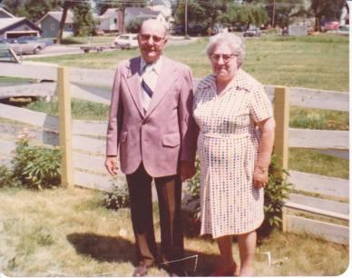 Grandpa (Clarence) and Grandma (Annabelle) Bredlow