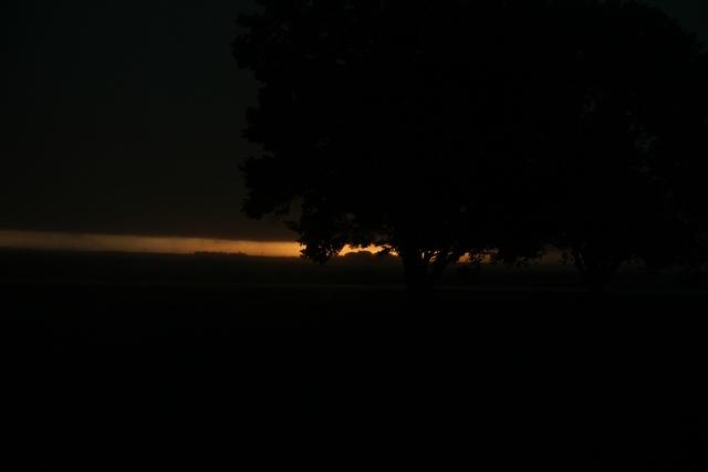 Black skies at 8:17 am Sept 19
